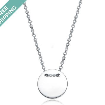 kiz&Co Sterling Silver Button Necklace