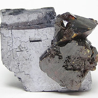 Metallic Galena with Ruby Jack Sphalerite crystals from Elmwood Tennessee,  Mineral Specimen mined in the 1980's