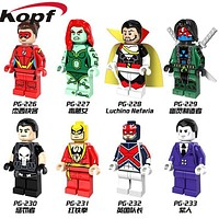 Single Sale Red Iron Fist Poison Ivy Punisher Luchino Nefaria Captain Britain Super Heroes Building Blocks Children Toys PG8060
