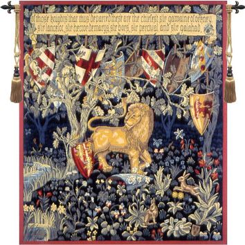 Heraldic Lion French Tapestry