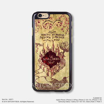 Harry Potter Marauder's Map iPhone Case Black Hard case 071