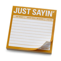 Just Sayin? Sticky Notes | Mod Retro Vintage Stationery | ModCloth.com $3.99