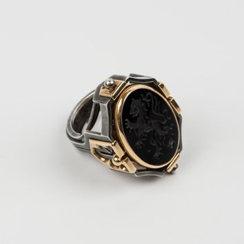 "ELIE TOP ""Earth Blazon"" Signet Ring"