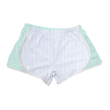 Light Blue and Mint Seersucker Shorts by Lily Grace - FINAL SALE