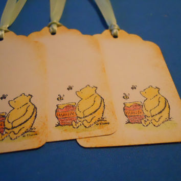 Set of 14 Classical Winnie the Pooh Tags by ZoeAmaris on Etsy