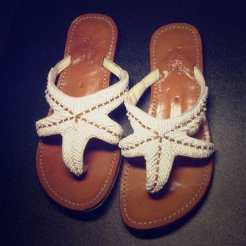 Leather KRISTEN'S KLOSET Bead Starfish Sandals (6)