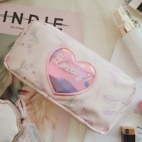 Buy Ifish House Rabbit Print Makeup Pouch | YesStyle
