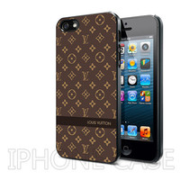 Louis Vuitton Pattern BR 004 - Design on Hard Cover - For iPhone 4, iPhone 4S, iPhone 5 CASE - Black, White, And Clear Colour Cases