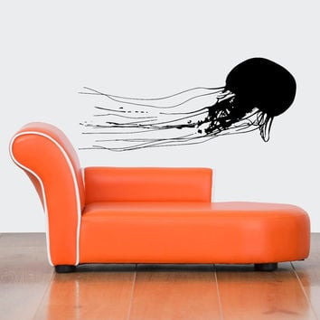Nice Gift Wall Vinyl Sticker Decals Mural Art Decor Ocean Jellyfish Predator 453