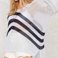 Out of Line Knit Sweater