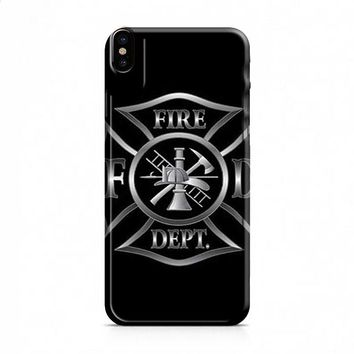 Firefighter silver crest iPhone X case