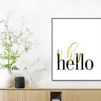 Hand Written, Inspirational, Why Hello, Gift For Her, Why Hello Print, Fashion Print, Affiche Scandinave, Scandinavian, Calligraphy