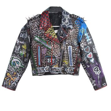 STUDmuffin NYC St Marks Leather Moto Jacket - AVAILABLE FOR IMMEDIATE | Patricia Field