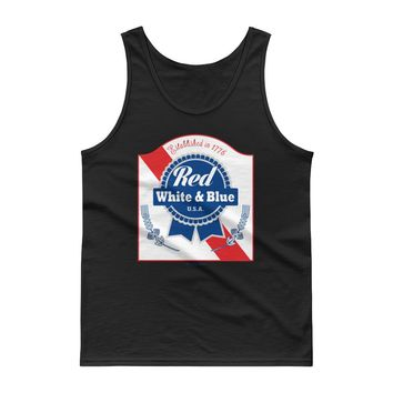 Red White & Blue PBR 4th Of July - Unisex Tank Top