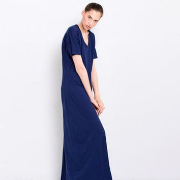 Midnight Blue Tunic Dress Maxi