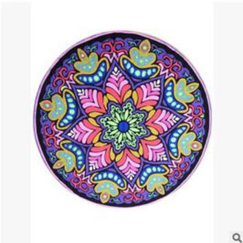 Indian Mandala Tapestry Beach Towel Flower Bohemian Hike Picnic Blanket Yoga Mat