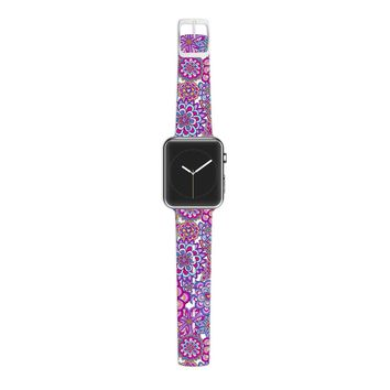 KESS InHouse Julia Grifol 38mm Strap for Apple Watch Band - Non-Retail Packaging - My Happy Flowers