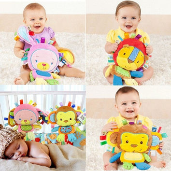 8 Styles Baby Toys Rattles Pacify Doll Plush Baby Rattles Toys Animal Hand Bells Newbron Animal elephant/monkey/lion/rabbit