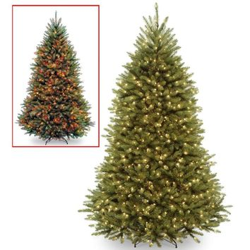 7.5 Ft. Realistic Pre-Lit Artificial Christmas Tree with 700 White Multicolored Dual LED Lights