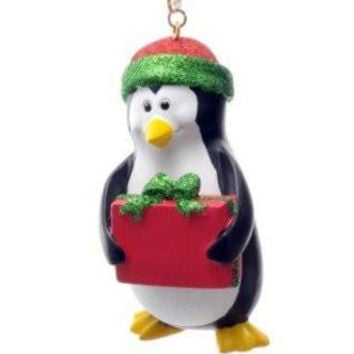 SeaWorld Penguin Resin Christmas Ornament New with Tag