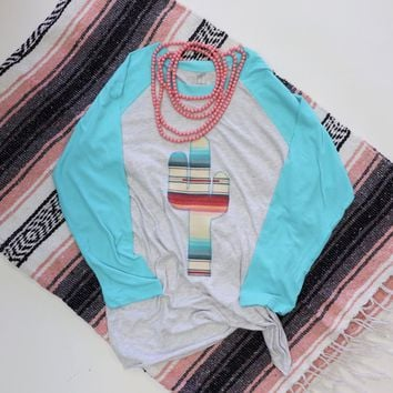 Dulce Ice Blue Baseball Tee
