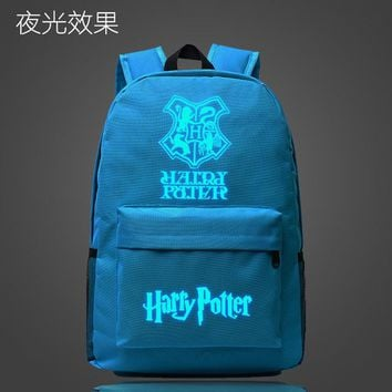 Student Backpack Children Harry Potter Hawarts School Bag noctilucous Luminous backpack student bag Notebook backpack Daily backpack Glow in the Dark AT_49_3