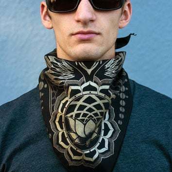 Sacred Geometry Bandana - Lotus world - Honeycomb Twist