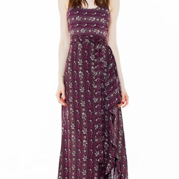bird dress plum hudson stripe