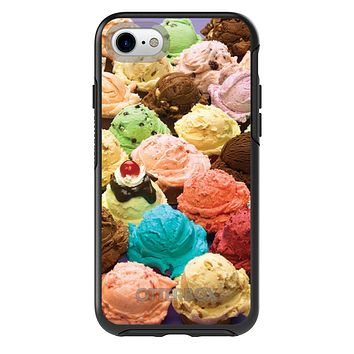 DistinctInk™ OtterBox Symmetry Series Case for Apple iPhone / Samsung Galaxy / Google Pixel - Ice Cream Scoops Cones