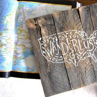 Wanderlust Pallet Wood Sign