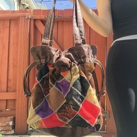 Patchwork Hobo Bag Quilted Boho Purse