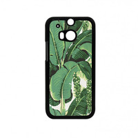 banana leaves HTC One M8 Case