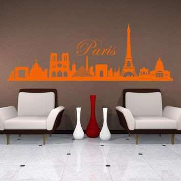 Paris City Skyline Wall Decal