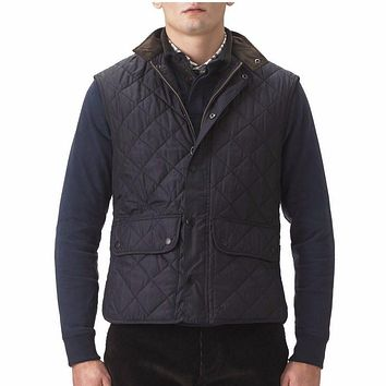 Lowerdale Quilted Gilet in Navy by Barbour