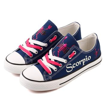 Customized Couples Constellation Canvas Shoes Fantasy Design Scorpio Horoscope Printed Women Walking Shoes Sapatos Mulher