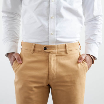 Butterscotch Sanded Canvas Trouser