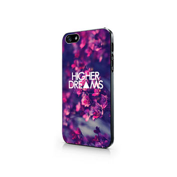 UNC-005-Hipster Triangle Higher Dreams-Iphone 4/4s, Iphone 5/5s hard plastic case
