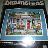 Vintage Dimensions Needlepoint Kit The Village Peddler Pearl Slobodian Country Store