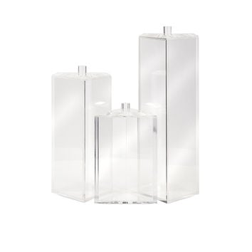 Beth Kushnick Acrylic Triangle Boxes - Set of 3