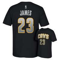 adidas Cleveland Cavaliers LeBron James Reflective Name and Number Tee