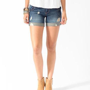 Destroyed Denim Boyfriend Shorts