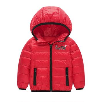Fashion Casual Sports Baby Girls Boys Kids Down Jacket Winter Coat Autumn Winter Warm Children Clothes drop ship #M