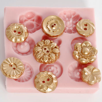 Button mold  Create Fondant Vintage Buttons  by MoldMeShapeMe