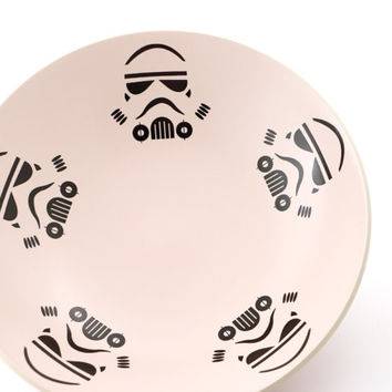 Star wars (R)  pink Storm Trooper salad bowl - one of a kind - home and living - pottery and ceramics - pink kitchen