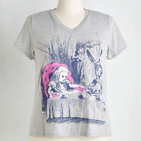 Out of Print Critters Short Sleeves Novel Tee in Alice - Plus