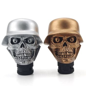 Car Modification Gear Shift Knob Devil Head Knob Resin Soldier Skull Shift Knob Car Accessories