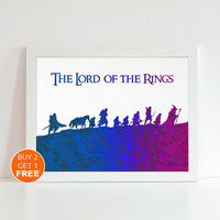 Lord of the Rings watercolor illustration art print, Lord of the Rings art, home decor, wall art, art print, The Hobbit art, movie art