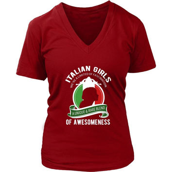 Italian T Shirt - Italian Girls We're a Limited of Fascination A Unique & Rare Blend of Awesomeness
