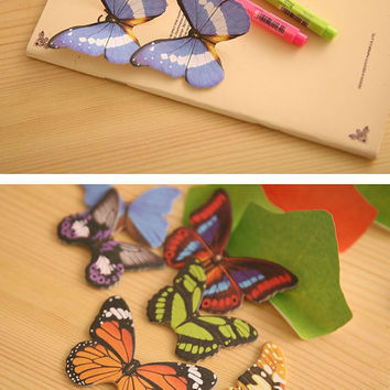 Sticky Notes Labels Memo Pads | Bookmark Stationary Paper | School Office Supplies | Colorful Butterfly Cute Korean Post-It Finger M15