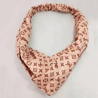 LV Louis Vuitton x Supreme Popular Women Casual Print Headband Hair Band Accessories